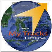 GPS MyTracks Offline icon