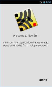 NewSum poster