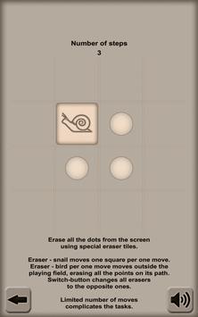 Eraser. Dotless Puzzle poster
