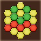 Color Lines. Hexagon icon