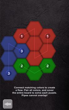 Color Lines. Hexagon poster