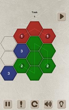 Color Lines. Hexagon screenshot 2