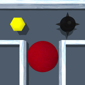Ice cube. Labyrinth 3D icon