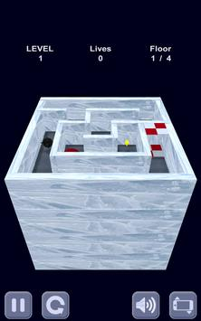 Ice cube. Labyrinth 3D poster