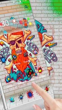 Graffiti Skull Street Pirate Theme apk screenshot