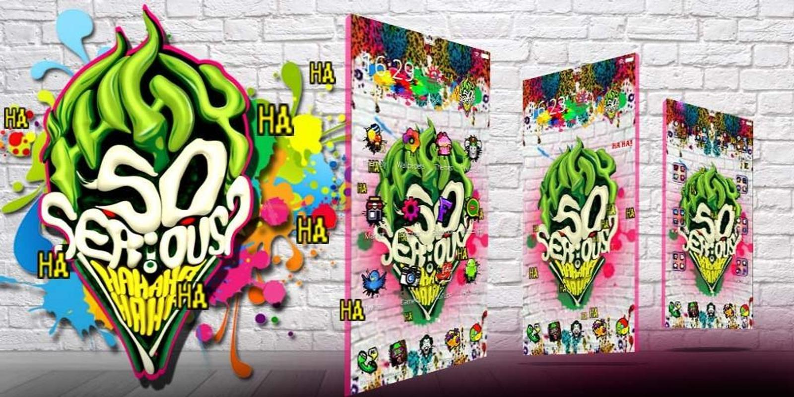 Tema joker 3d graffiti screenshot 3