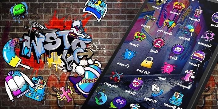 Graffti Punk Theme apk screenshot