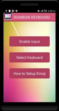 Rainbow Emoji Keyboard poster