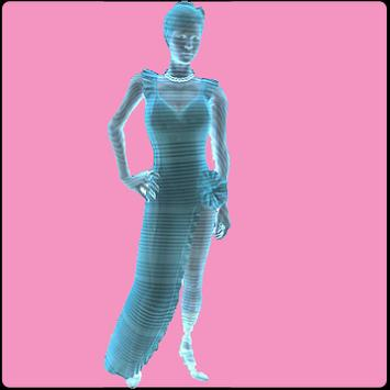 Hologram simulator for woman poster