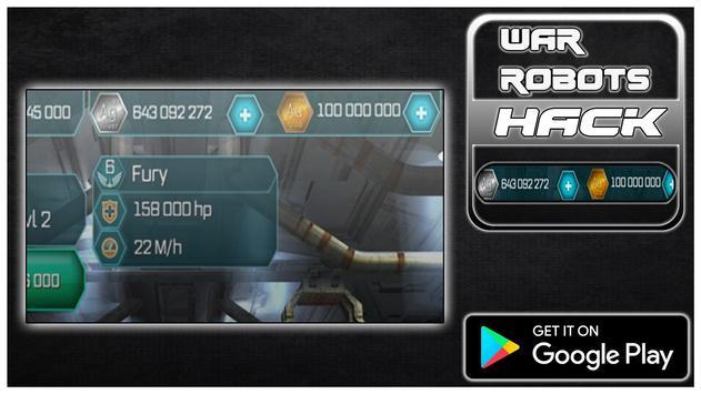 Hack For War Robots New Fun App - Joke poster