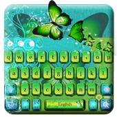 Green Butterfly Keyboard Theme icon