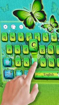 Green Butterfly Keyboard Theme poster