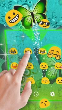 Green Butterfly Keyboard Theme apk screenshot
