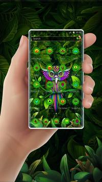 Green Owl Forest Theme screenshot 5
