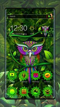 Green Owl Forest Theme poster