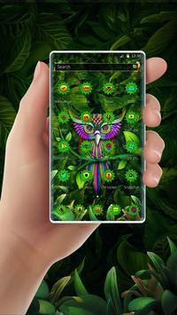 Green Owl Forest Theme screenshot 1