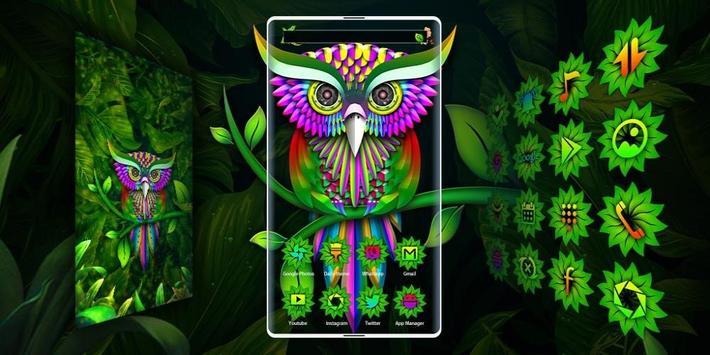 Green Owl Forest Theme screenshot 3