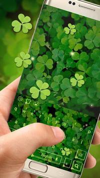 Green Leaf Keyboard Theme poster