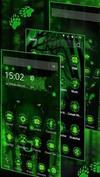 3d Green Neon Bear screenshot 2