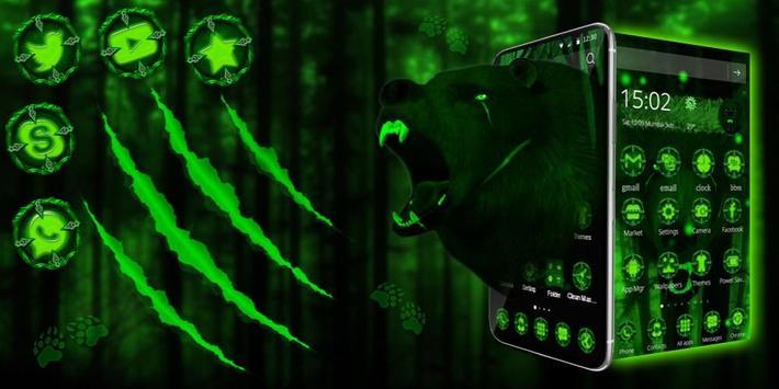 3d Green Neon Bear screenshot 3