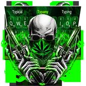 Cool Weed Ghost Gun Keyboard Theme icon