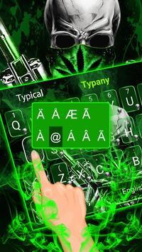 Cool Weed Ghost Gun Keyboard Theme screenshot 2