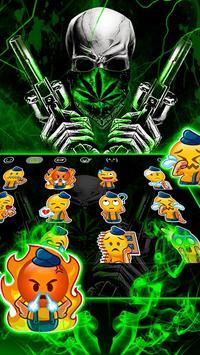 Cool Weed Ghost Gun Keyboard Theme screenshot 3