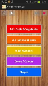 Alphabets & Numbers poster