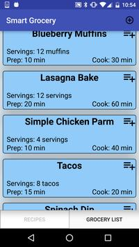 Smart Grocery and Recipe List poster
