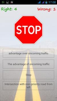 Road Traffic Signs Quiz apk screenshot