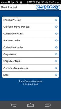 TransExpress Guatemala apk screenshot