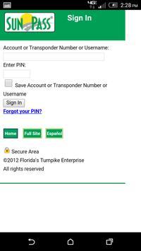 SunPass screenshot 2