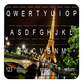 Night Eiffel Tower keyboard themes icon