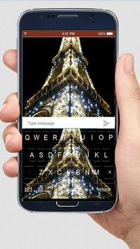 Night Eiffel Tower keyboard themes poster
