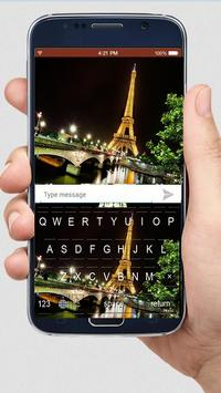 Night Eiffel Tower keyboard themes screenshot 1