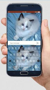 Cute Kitty Keyboard Theme poster