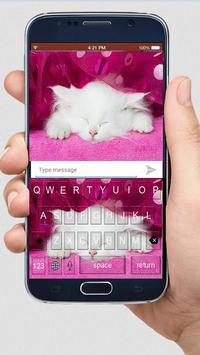 Cute Kitty Keyboard Theme apk screenshot
