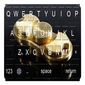 Golden Fidget Spinner Keyboard icon