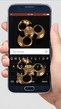 Golden Fidget Spinner Keyboard screenshot 2