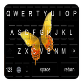 Golden Butterfly Keyboard Themes icon