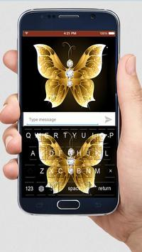 Golden Butterfly Keyboard Themes poster