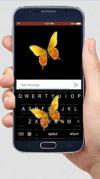 Golden Butterfly Keyboard Themes screenshot 1