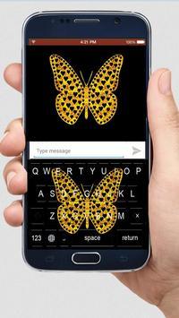 Golden Butterfly Keyboard Themes apk screenshot