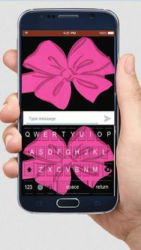 Black Pink Bow  Keyboard Themes apk screenshot