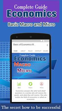 Basic of Economics Macro and Micro poster