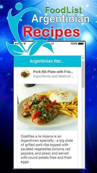 Argentine Famous Food Recipes screenshot 1