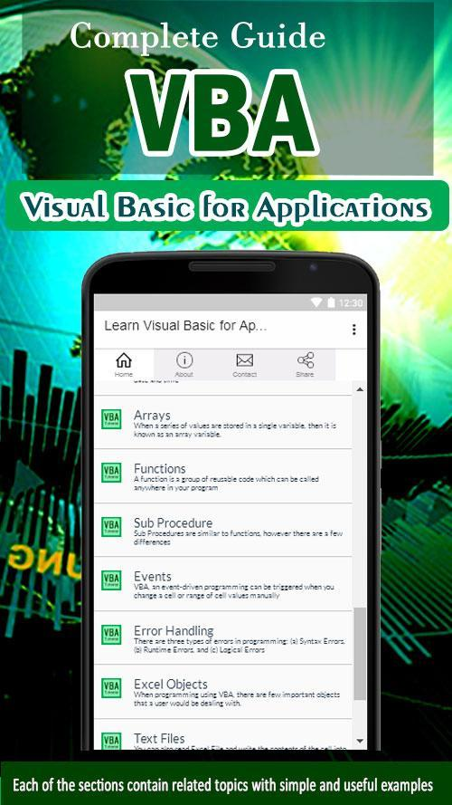 Learn Visual Basic for Applications - VBA Tutorial for Android - APK