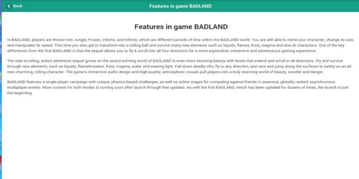 Guido odds BADLAND apk screenshot