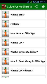 Modi BHIM Guide (No Internet) poster