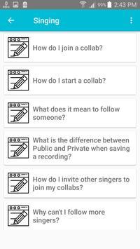 Guide Video Karaoke Smule screenshot 3